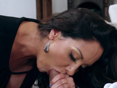 Curvy milf with large tits is fucked hard in her wet pussy