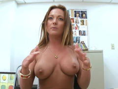 Sweet milf removes her clothes and shows us her clit piercing