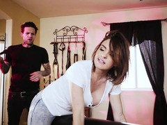 BDSM porn action of hot girl Krissy Lynn and bad guy Small Hands