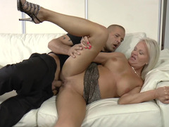 Curvaceous milf satisfied by the cock of a younger man