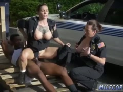 Black cock cop and double blonde milf blowjob I will catch any perp with