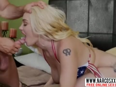 Blonde Stepmom Hadley Viscara With Pink Pussy Gets Drilled