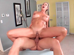 Enchanting MILF Brandi Love sucks a dick before being fucked hard