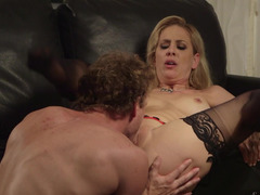 Date night gets naughty as the milf fucks her new man