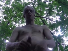 2 HOT CUM, NAKED CHEST, OUTDOOR IN PUBLIC - HOMEMADE AMATEUR SOLO MALE DILF
