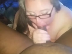 Sexy Chubby Milf Sucks A Big Black Cock - POV