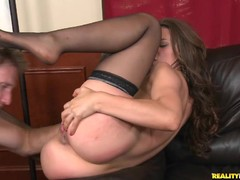 Hot body MILF Leena Sky gets nailed from behind