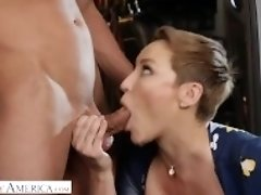 """Naughty America - Ryan Keely fucks for a discount at the mechanic"""