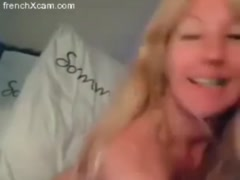 Real amateur french blonde milf francaise pussy and ass fingering on cam