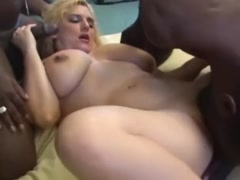 Hot Blond Slut Wife Interracial Gangbang Orgy