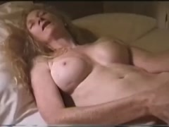 Blonde Mature masturbates with huge dildo- Watch Part2 on Milftop.com