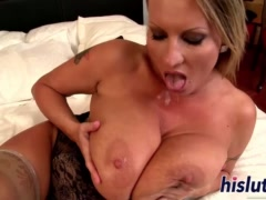 Stacked mature bitch rides a big dick