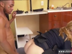 Milf white Black Male squatting in home gets our milf officers squatting