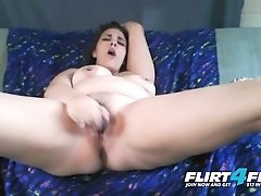 """Horny Nicky on Flirt4Free - Chubby Babe w Big Natural Titties Creamy Pussy"""