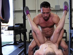 Petite girl gets rammed by a muscled stud so well