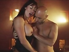 Bald dude bangs two cock hungry porno darlings