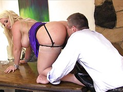 Big ass MILF Alura Jenson bends over in front of