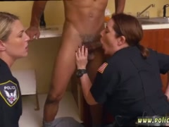 Blonde milf seduces young man Black Male squatting in home gets our milf
