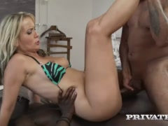 MILF Julia Pink Stars in Her First Interracial Gangbang