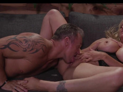 Making love to Julia Ann as the milf moans for more