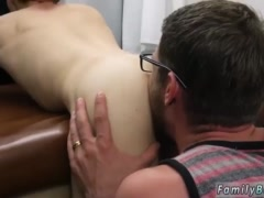 Mature gay and young boy Doctor's Office Visit
