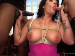 MILF Holly Heart Gangbanged and Glazed By Husband and 4 Friends!