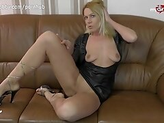 """MyDirtyHobby - German MILF live anal cam show with double penetration toy"""