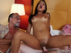 British old man and daddy tits Staycation with a Latin Hottie
