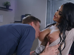 Female boss with big tits is slut inside tempting subordinate