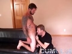 """Beautiful Stud w/Huge Cock - Serviced & Load Swallowed + Funny Outtakes"""