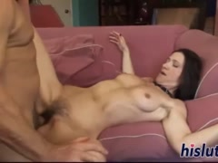 Foxy mature bint slid a cock in her hairy twat and got pounded hard.