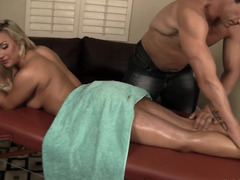 Stunning MILF gets fucked during massage session