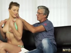 Old man fucks girl first time Sex with her boyplaymate´s father after