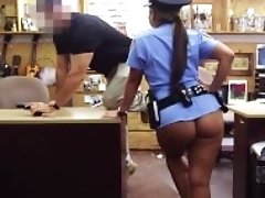 """XXX PAWN - Pervy Pawn Shop Owner Fucks Latin Police Officer"""