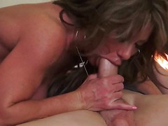 Gorgeous busty mom Farrah Dahl is hungry for cock. She