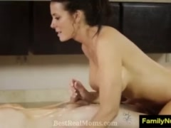 Mother and son sex massage