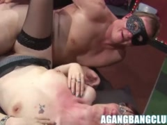 Hot big ass matures get pussy drilled hard in hard gangbang
