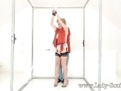 """Lady Sonia handcuffed and teased with a vibrator"""