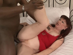 Crazy old bitch asks black monster to penetrate her hard