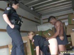 Brunette wife gangbang first time Black suspect taken on a tough ride