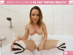 TS VR Porn - Big Tits TS Masturbating and ass play in the bathtub
