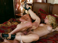 Hot and slutty milf is craving cock and she gets a young one