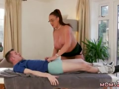 Thick blonde tattoo milf xxx Big Tit Step-Mom Gets a Massage