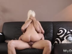 Stroke it for me daddy and flash fuck Horny blondie wants to try someone