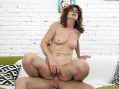 Jason Storm fucks the shit out of mature Mayna May