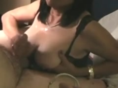 Busty Asian Mature Blowjob