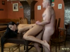 Teens do porn anal saw his father and his girlpatron naked on a table in