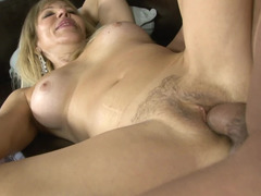 Raunchy blonde MILF gets rammed in front of her daughter so hard
