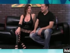 Hot Sara Jay does it black