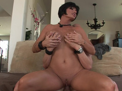 Mommy gets naked and takes his big dick for a ride